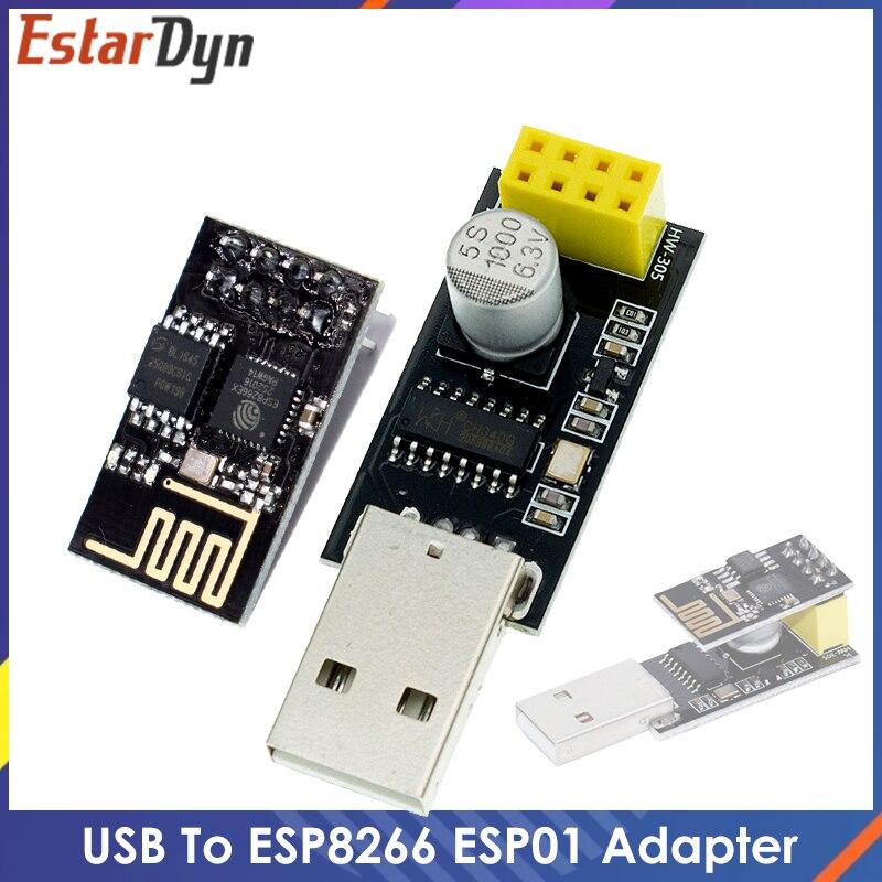 ESP01 программист адаптер UART GPIO0 ESP-01 Adaptater ESP8266 CH340G USB к ESP8266 серийный Беспроводной Wi-Fi разработка плата Модуль гибкий кабель