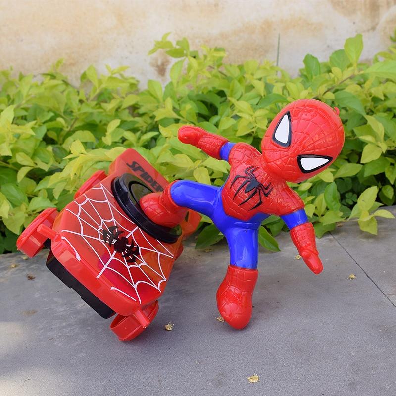 Homem aranha carro eletrônico super-herói homem de ferro scooter os vingadores capitão américa corrida música elétrica brinquedos para crianças presentes