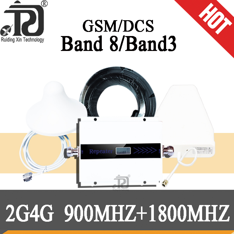 gsm repeater 900 1800 2G 4G cellular signal booster DCS  LTE mobile amplifier