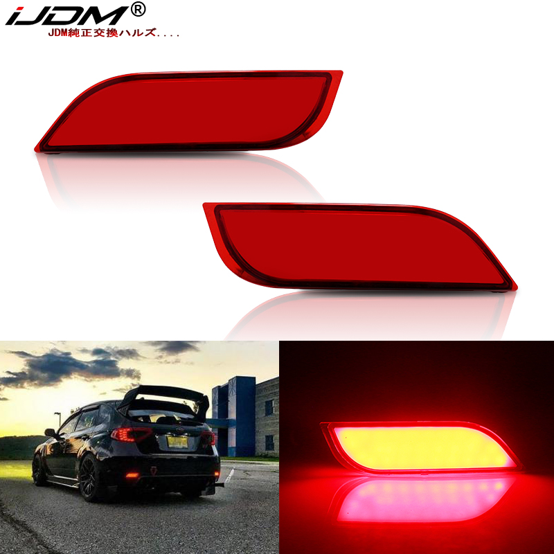 IJDM LED Bumper Reflector Lights For Subaru Impreza WRX Or WRX STi XV Crosstrek Function As Tail,Brake Lamps & Rear Fog Lamps