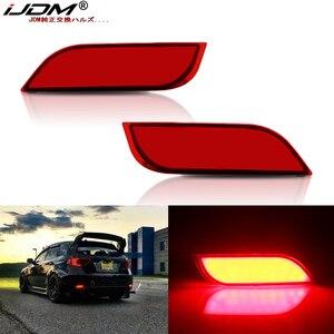 iJDM LED Bumper Reflector Lights For Subaru Impreza WRX or WRX STi XV Crosstrek Function as Tail,Brake Lamps & Rear Fog Lamps(China)