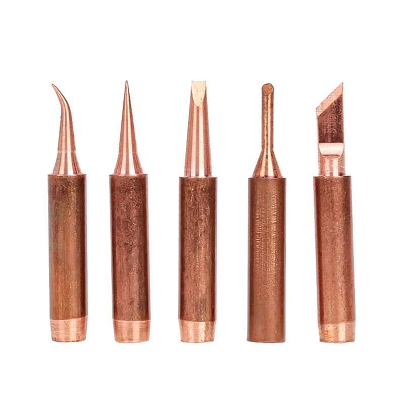 5pcs/lot 900M-T Pure Copper Soldering Iron Tip Lead-free Solder Tips Welding Head BGA Soldering Tools Branding Iron