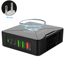 Obrotowy stojak telefon komórkowy wieloportowy podróż szybka ładowarka USB bezpieczny 75W PD z zasilaczem domowy Laptop typu C stacja przenośna