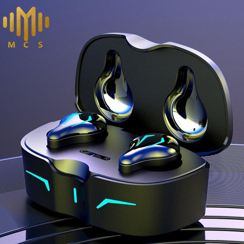 Игровые наушники TWS, Беспроводная Bluetooth-гарнитура, спортивные наушники, музыкальные наушники-вкладыши IPX6 с микрофоном, зарядное устройство 300 мАч, новинка 2021