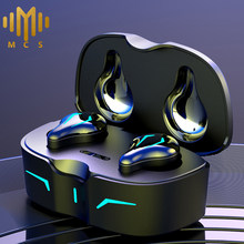 TWS Gaming Earphones Wireless Bluetooth Headset Sport Headphone Music Earbuds IPX6 With Microphone 300mAh Charging Box 2021 New