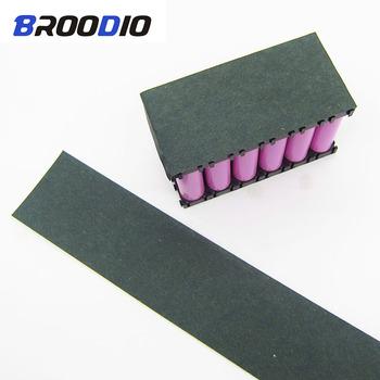 1m 60mm do 180mm 18650 uszczelka izolacji akumulatora papier jęczmienny Li-ion Pack komórki izolacyjne klej Patch elektrody izolowane klocki tanie i dobre opinie Broodio Bateria Akcesoria 18650 Battery Insulation Gasket