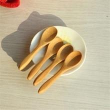 Горячие Маленькие деревянные Мини Ложки для детей медовая кухня с использованием ложка для специй 9,2*2,0 см Cucharas Colheres