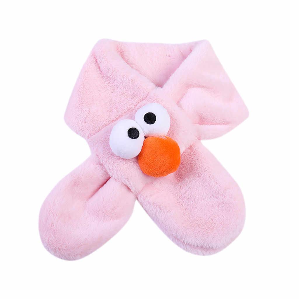 ילדי צעיפי חורף תינוק פומפונים צעיף בני בנות לשמור חם צוואר חם עבה צעיפי צווארון סריגה צעיפי מטפחת צעיף