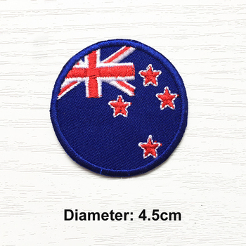 Iron On Patch Round Flags Embroidered Patches US Turkey HK CN AU IT CA France Netherlands Embroidery DIY cloth Accessories image