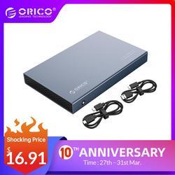 ORICO корпус для жесткого диска 2,5 дюйма SATA к USB 3,1 Type C Gen 2 чехол для Samsung Seagate SSD 4 ТБ коробка для жесткого диска внешний корпус для жесткого диска