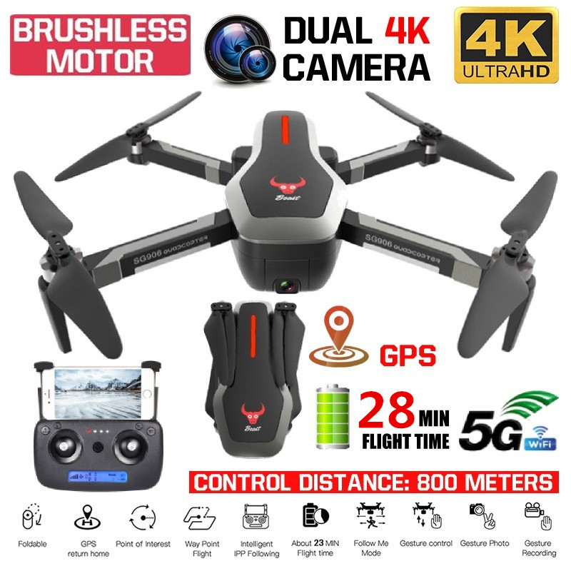 Dual GPS Drone 4K HD Dual Kamera Quadcopter Bürstenlosen Motor Drone GPS Smart Folgen 5G WIFI FPV Rc hubschrauber Profissional Drone