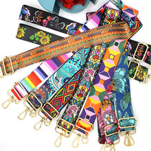 Nylon/Cotton Bag Strap Woman Colored Straps for Crossbody Messenger Shoulder Bag Accessories Adjustable Embroidered Belts Straps(China)