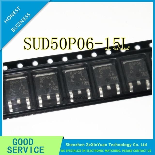 10 pçs/lote SUD50P06 15L 50p06 15 50p06 50a 60 v p canal para 252 mos transistores de efeito de campo