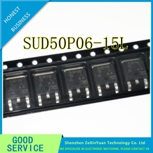 10PCS/LOT SUD50P06 15L 50P06 15 50P06 50A 60V P CHANNEL TO 252 MOS FIELD EFFECT TRANSISTORS