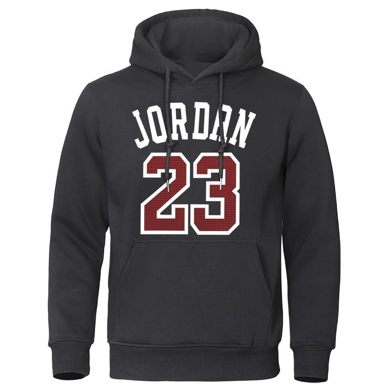 Hot Sale Men Hoodies 2019 Autumn New Tracksuit Jordan 23 Print Streetwear Hoodie Sweatshirts Cotten Hip Hot Male Brand Pullovers