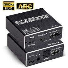 4K del convertitore 4K dell'audio del convertitore 4K HD-MI a TOSLINK SPDIF ottico 4K 60Hz H-DMI 2.0 Audio Splitter 5.1 ARC HD-MI Audio estrattore HDCP 2.2