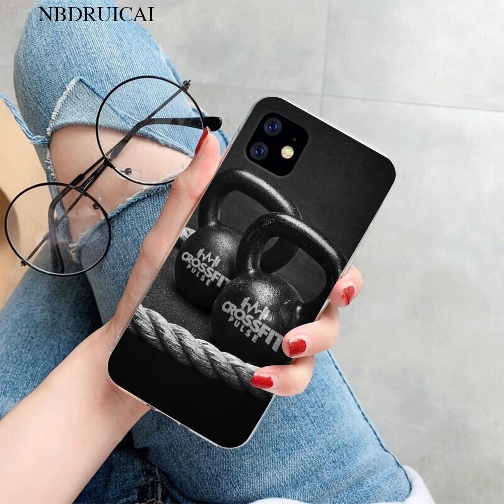 NBDRUICAI Crossfit นุ่มซิลิโคน TPU โทรศัพท์สำหรับ iPhone 11 Pro XS สูงสุด 8 7 6 6S PLUS X 5S SE XR ฝาครอบ