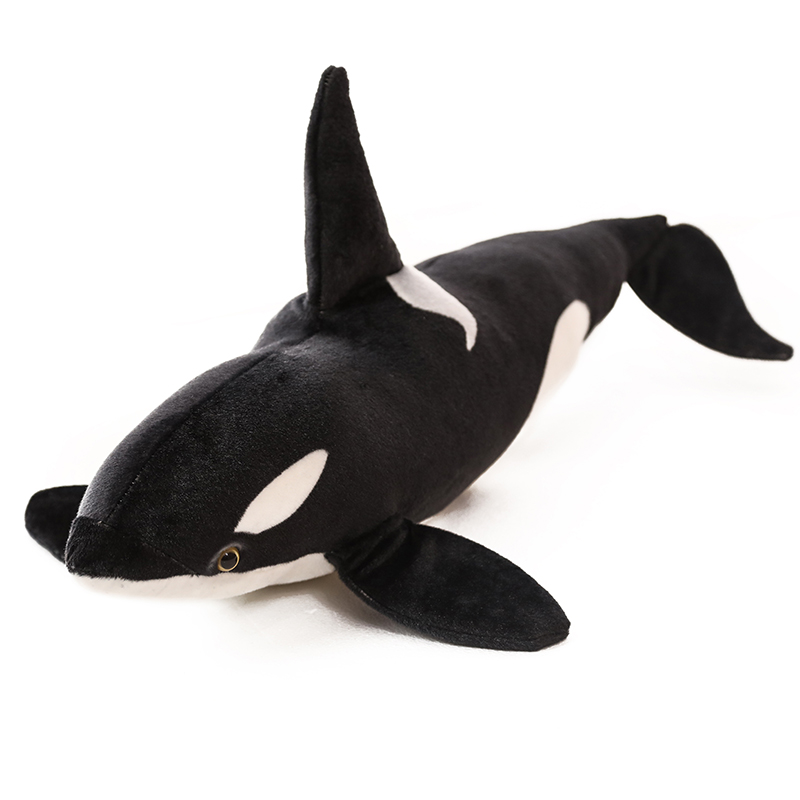 75/130cm Simulation Giant <font><b>Killer</b></font> <font><b>Whale</b></font> <font><b>Plush</b></font> Toy Lifelike Marine Shark Stuffed Sea Animal Pillow Soft Toys for Kids image