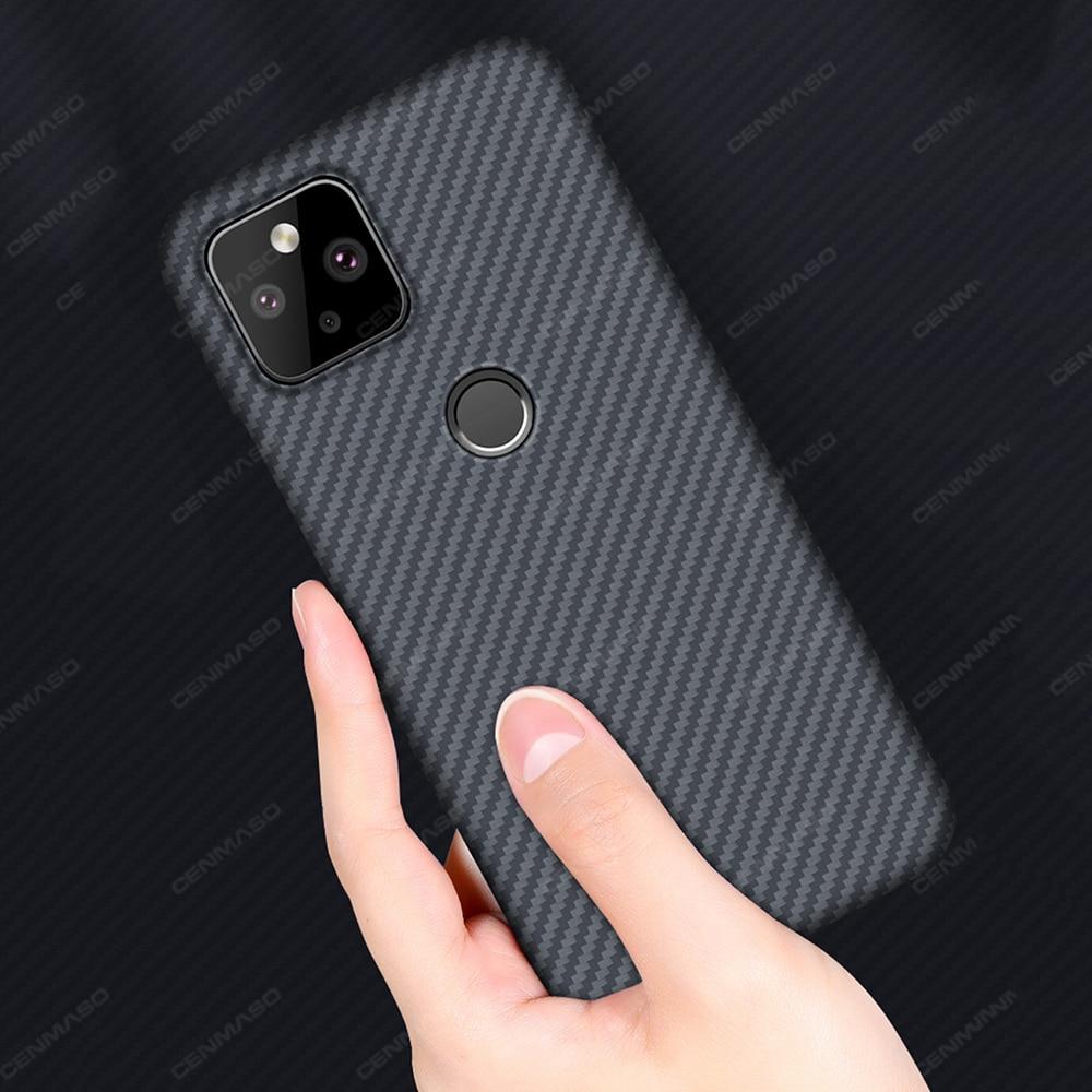 Pure Real Carbon Fiber Case for Google Pixel 5 Case for Google Pixel 4A 5G Case Fiber Ultra Thin Pixel5 Pixel4A Shockproof Cover