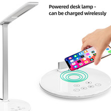 Eye Protect LED Desk Lamp Folding Touching Switch 3/5 Level Dimming USB Reading Table Lamp Wireless Charging For Mobile(China)
