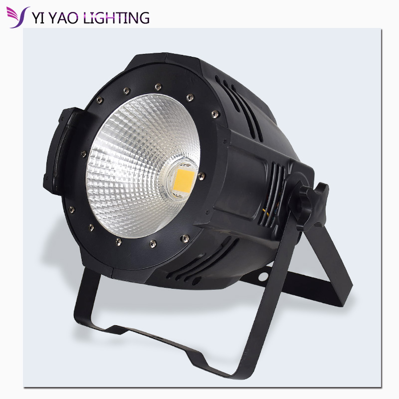 Led Par 100w COB warm white Lights led dmx control Surface light good for Performance wedding stage show party light