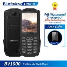 Blackview BV1000 3000 мА/ч, 2,4 дюймов прочный мобильный телефон IP68 Водонепроницаемый противоударный MTK6261 Dual SIM FM мини сотовый телефон фонарик