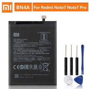 Image 1 - オリジナル交換用バッテリーxiaomi redmi Note7注7プロM1901F7C BN4A本物の携帯電話のバッテリー4000mah