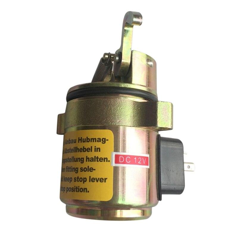 BF4M1011F Fuel Shut Off Solenoid 04170534R for Bobcat Skid Steer Loader 12Vdc Pressure Sensor     - title=