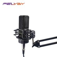 FELYBY BM1000 קריוקי Compurter מיקרופון הקבל עבור/מחשב נייד/מחשב הקלטה Mikrofon אודיו סטודיו מיקרופון