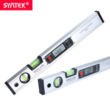 Syntek Digital Angle Finder Level 360 Degree Range Spirit Level Upright Inclinometer With Magnets Protractor Ruler au ship digital protractor angle finder inclinometer v groove level meter 4x90 deg digital protractor with v groove lcd display