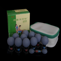 18 pcs Silver body Magnetic Therapy Suction Cup household Vacuum Acupressure acupuncture and moxibustion Cupping Set Health Care