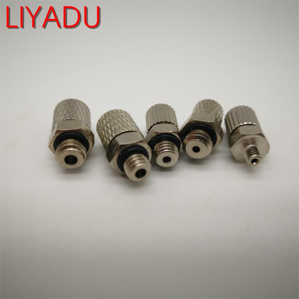 5PCS Male Thread M3 M4 M5 M6 -Air Tube 3mm 4mm 6mm OD Mini Pneumatic Pipe Connector Screw Through Quick Fitting Fast Twist Joint