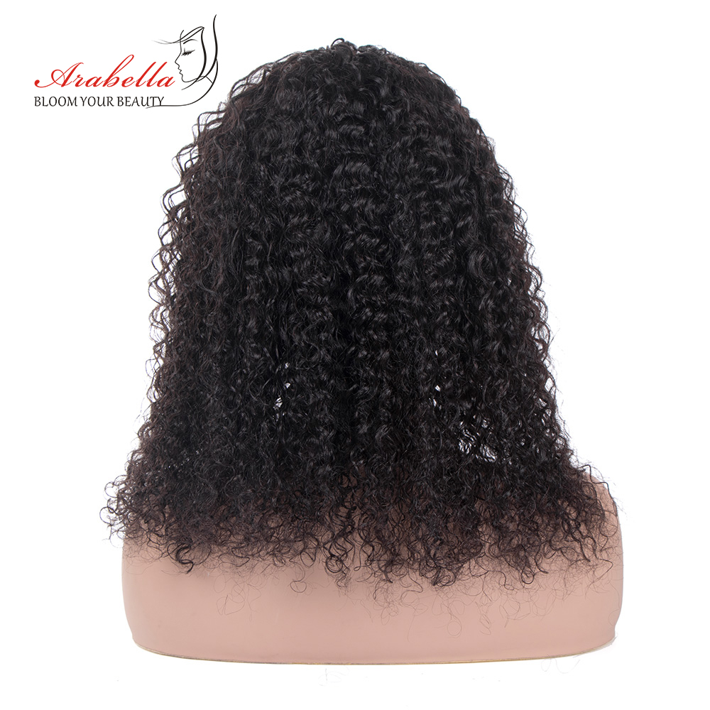 Jerry Curly  Wigs With Headband  Hair Full Machine Made Wig  Easy to Install ARABELLA Glueless Wig 5