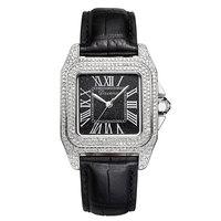 2020 New Davena rose gold quartz watch women watches full diamond luxury female clock ladies watches waterproof Leather strap