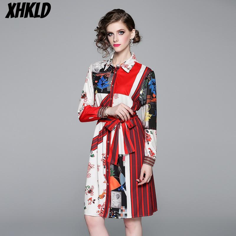 formal dress women elegant 2020 spring new long sleeve lapel shirt dress satin luxury fashion style print midi vestidos