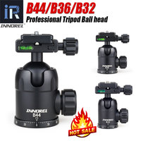 INNOREL B44/B36/B32 Aluminum Alloy Panoramic Camera Tripod Head Max Load 15/12/8kg with Quick Release Plate for Telephoto Lens