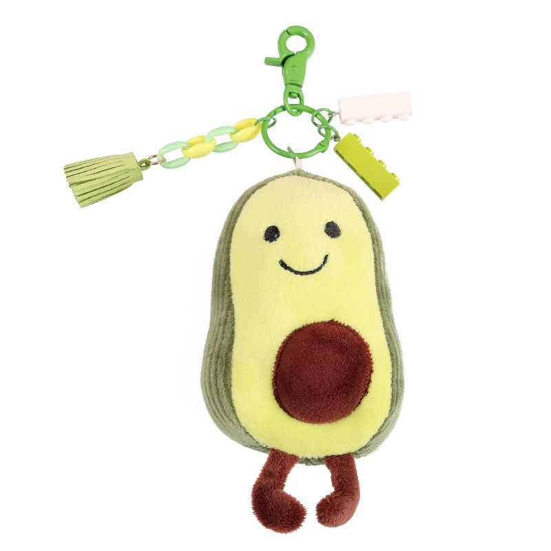 מיני אבוקדו מפתח שרשרות בפלאש צעצוע קטן יהלי בובת מפתח שרשרת סמרטוט בובת קוריאני תליון מפתח טבעת מתנה לחברים חדש 2020