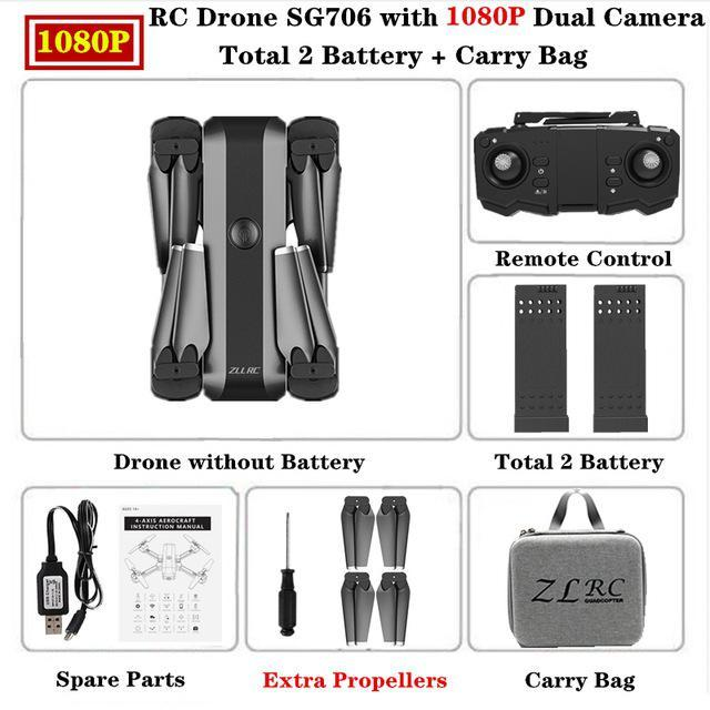 SG706 HD 1080p Carry Bag 2 batteries
