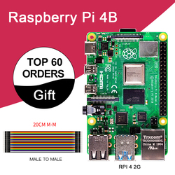 Новый Raspberry Pi 4 Модель B 2 Гб ОЗУ BCM2711 четырехъядерный Cortex-A72 ARM v8 1,5 ГГц Поддержка 2,4/5,0 ГГц wifi Bluetooth 5,0