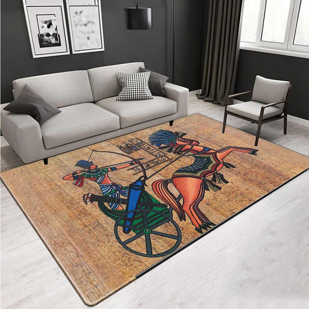 이집트 문화 거실에 대 한 큰 카펫 빈티지 북유럽 민족 스타일 층 매트 매트 옆에 비 슬립 빨 래 러그 침실