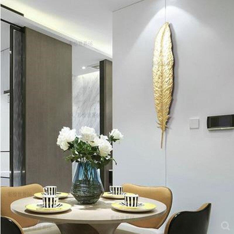 Европейский Золотой элемент декора из кованого железа, 3D настенные, листья, креативное украшение гостиницы, домашнее украшение Стены, рождественские украшения - 2