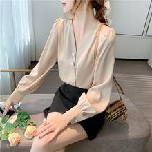 Женские блузки шифоновые для женщин рубашка с длинным рукавом