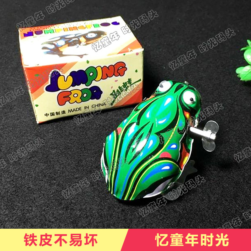 Memories Spring 80 Childhood Nostalgic Toy Childhood Algam Frog Mouse Cock Classic Small Toy