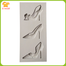 DIY silicone mold  mini High heels chocolate moulds double sugar cake decorating tools