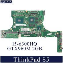 KEFU LA D213P Laptop motherboard for Lenovo ThinkPad S5 E560P Original Mainboard I5 6300HQ GTX960M 2GB