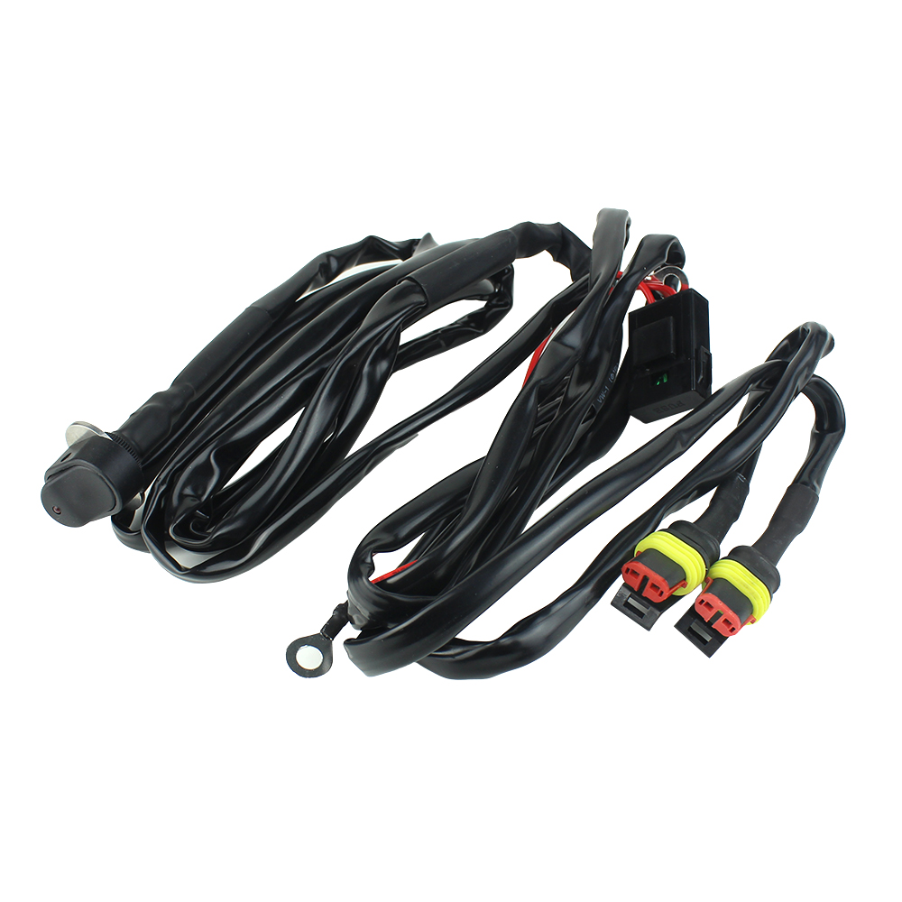 cheapest For BMW Motorcycle LED Auxiliary Fog Lights wire switch