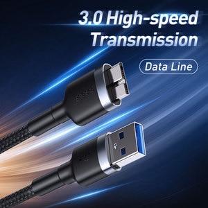 Image 3 - Baseus USB 3.0 Naar Micro B Kabel 5GB Snelle USB Type EEN Micro B Data Kabel voor Samsung s5 Note 3 HDD Externe Harde Schijf Schijf Cord