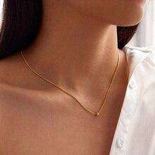 YWZIXLN Boho Charm Alloy Metal Bead Decor Fashion Necklaces Bijoux For Women Elegant Choker Jewelry N048 ywzixln boho charm alloy metal bead decor fashion necklaces bijoux for women elegant choker jewelry n048