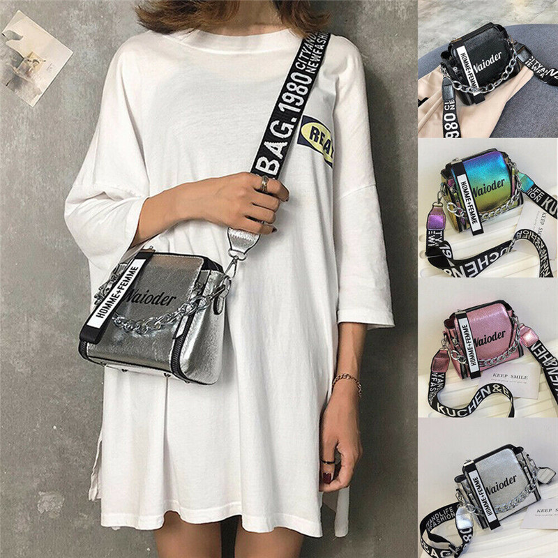 New Women's Girl Printed Chain Shoulder Bag Fashion Flap Cross-Body Bags Shoulder Bags Multi-Color Shoulder Bags