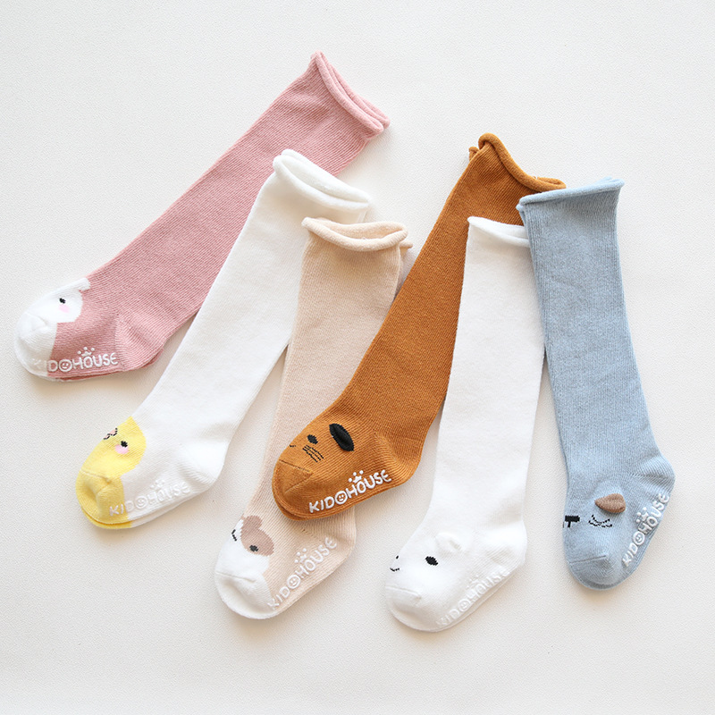 Knee High Baby Socks Newborn Socks For Girls Cotton Cartoon Infant Baby Boys Socks Anti Slip Casual Winter Baby Leg Warmers
